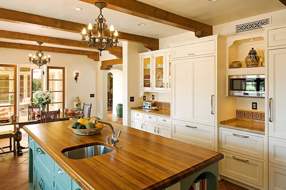 spanish style custom kitchen island with sink design studio west