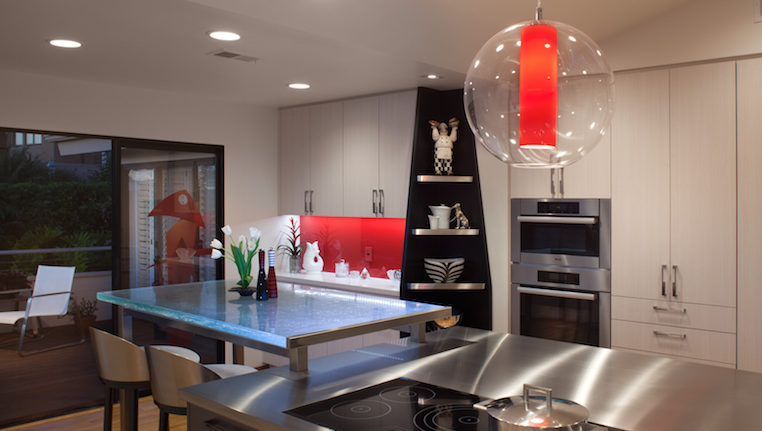 nkba star design winner san diego kitchen remodel red light penant