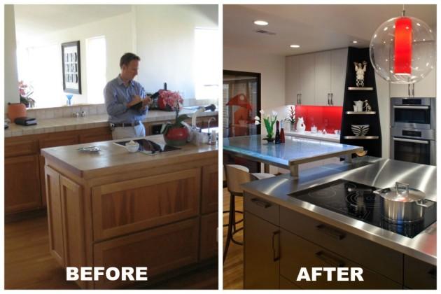 modern small kitchen remodel in La Jolla