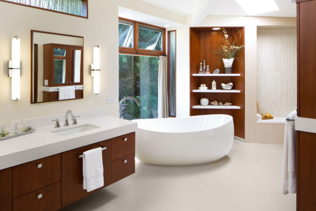 award winning san diego open bathroom remodel