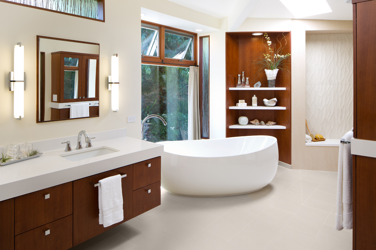 Award winning bathroom remodel the open shower concept for Open bathroom designs